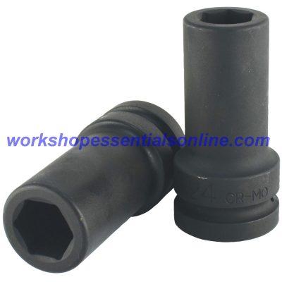 "1"" Drive 24mm Deep Impact Socket 6 Point Trident T950124"