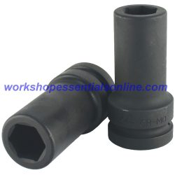 "1"" Drive 34mm Deep Impact Socket 6 Point Trident T950134"