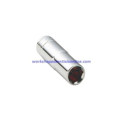 """11/16"""" Imperial 3/8"""" Drive Deep 6 Point Socket 65mm Long Signet S12206"""