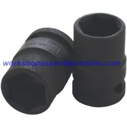 "1/2"" Drive 15mm Standard Impact Socket 6 Point 38mm Deep Trident T930015"