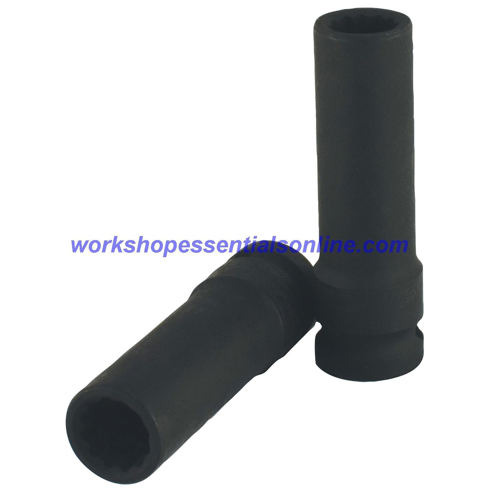 "1/2"" Drive 19mm Deep Impact Socket 12 Point Trident T933119"