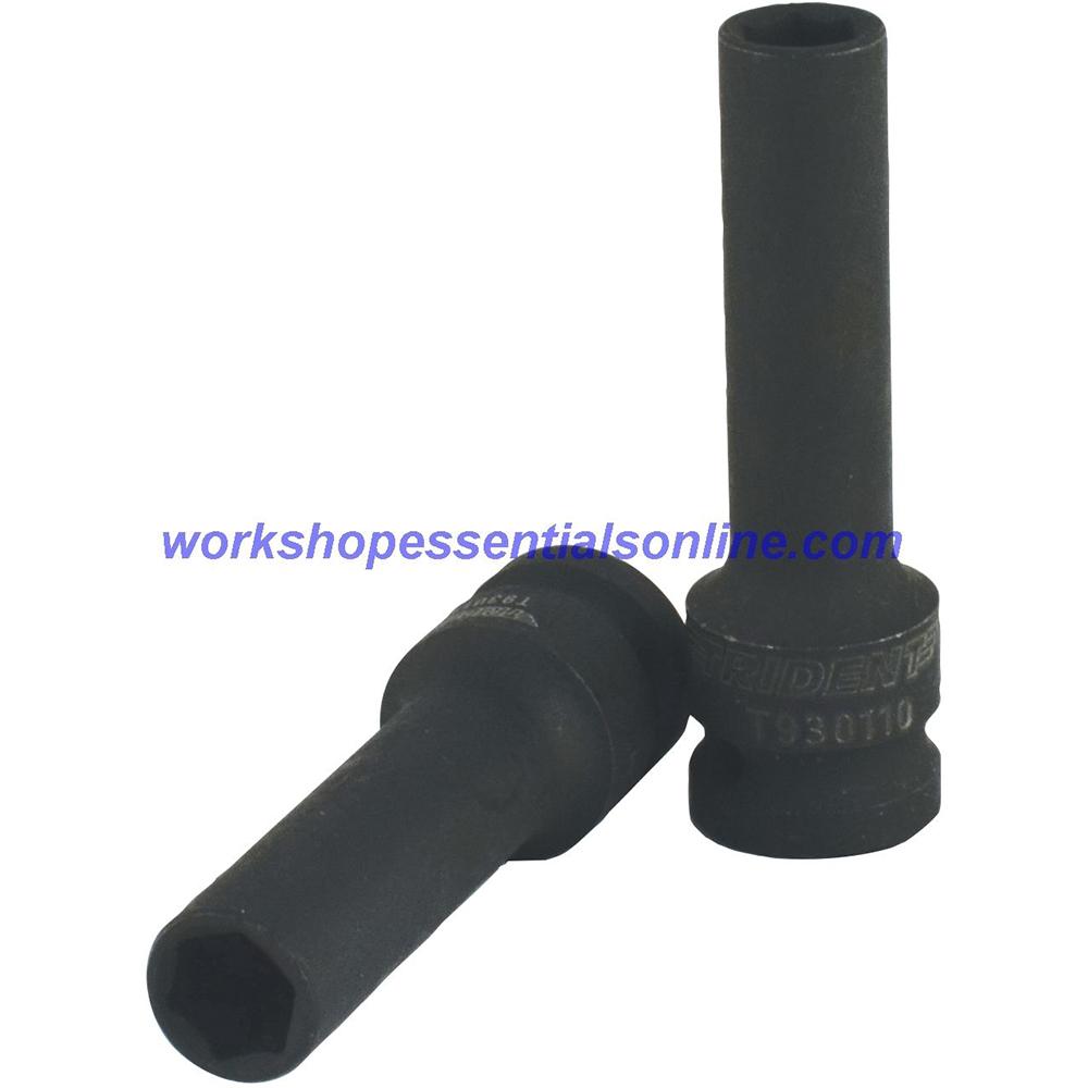 "1/2"" Drive 19mm Deep Impact Socket 6 Point 78mm Deep Trident T930119"