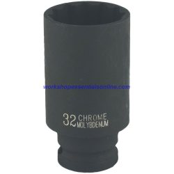 "1/2"" Drive 20mm Deep Impact Socket 6 Point 78mm Deep Trident T930120"
