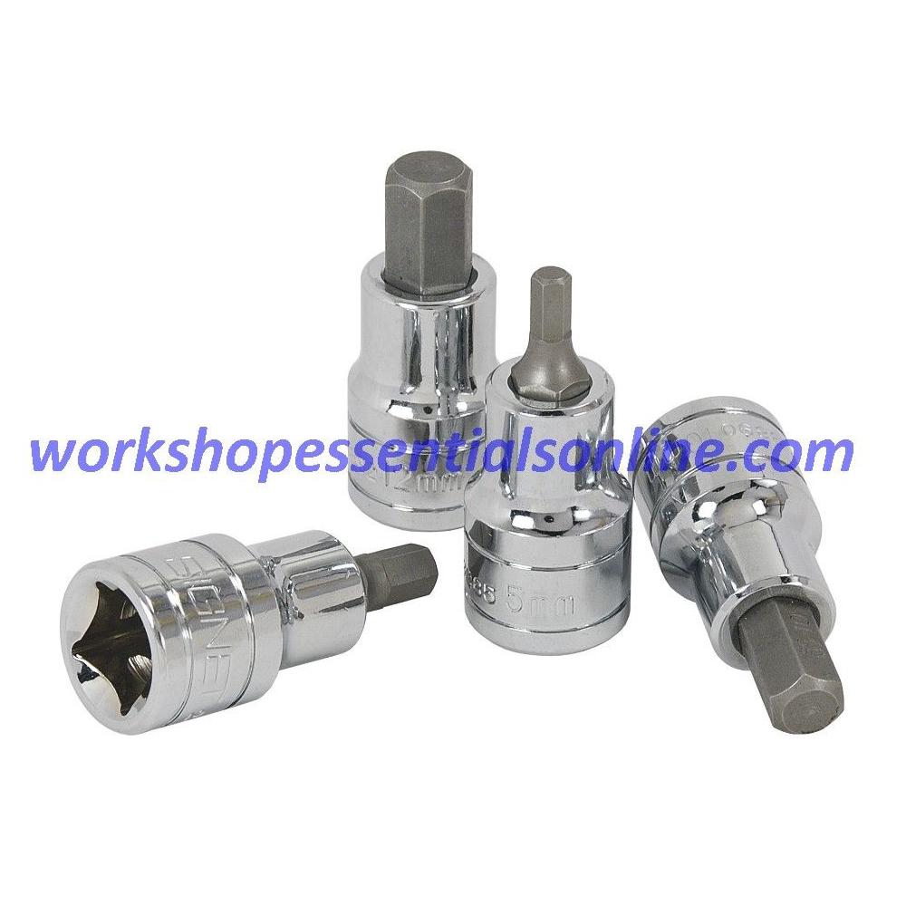 "1/2"" Drive 4mm Hex Bit/Allen Socket Signet S23884 Professional Quality Tools"