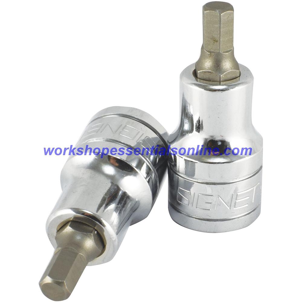 "13mm Hex Key Allen Socket 1//2/"" Drive 100mm Overall Length Trident"