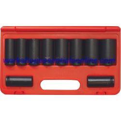 "1/2"" Drive Deep Impact Socket Set Large Sizes 21-36mm 10pc Trident T930101"