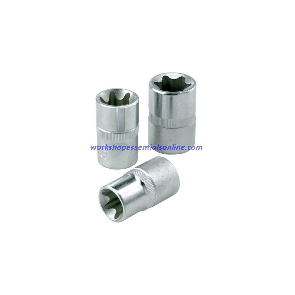 """1/2"""" Drive E-Torx Socket Set E12-E24 7Pc Signet S23629"""