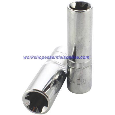 """1/2"""" Drive E18 Deep E-Torx Socket Trident T130618 Free P&P"""