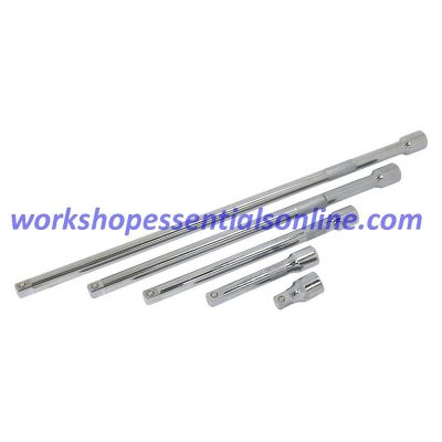 """1/2"""" Drive Extension Set Trident T132600 5pc 50mm, 125mm, 250mm, 375mm & 500mm"""