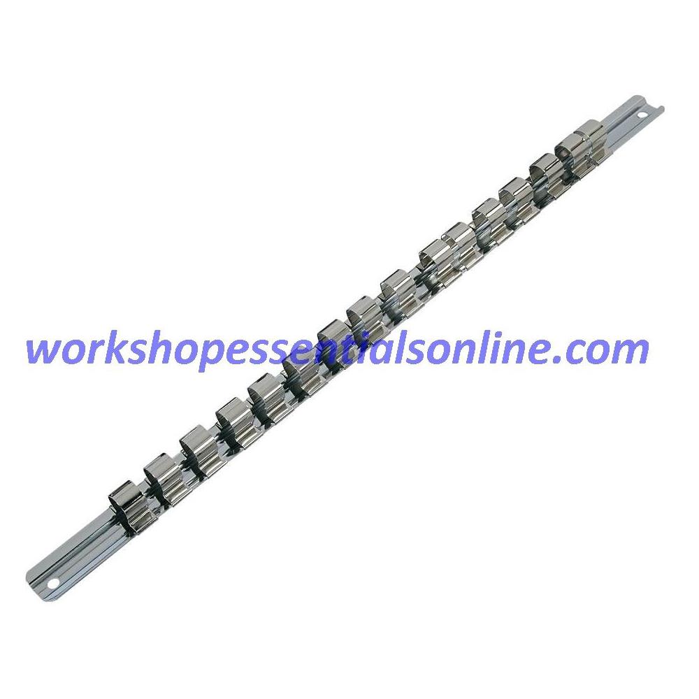 1/2 Drive Socket Rail & 16 Clips Trident T134000