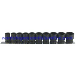 "1/2"" Drive Standard Impact Socket Set 12 Point 13-24mm 10pc Trident T933000"