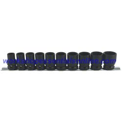 "1/2"" Drive Standard Impact Socket Set 6 Point 13-24mm 10pc Trident T930000"