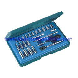 "1/4"" Drive Metric Socket Set Standard+Deep Signet S11724S 24pc In Plastic Case"