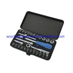 """1/4"""" Drive Socket & Bit Set 29pc with Ratchet Extensions & Spinner Signet S11890"""