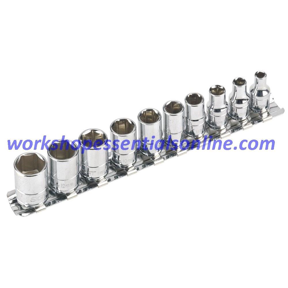 1/4 Drive Socket Set 4-13mm Sockets With Ratchet Signet S11711S