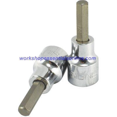 "1/4"" Imperial Hex Key Socket 3/8"" Drive 50mm Long Signet S22847"