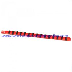 "1/4"" Socket Rail Organiser Dura Pro Twist Lock Holds 15 Sockets Ernst E8400"