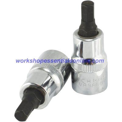 "14mm Hex Key Allen Socket 1/2"" Drive 55mm Overall Length Trident"