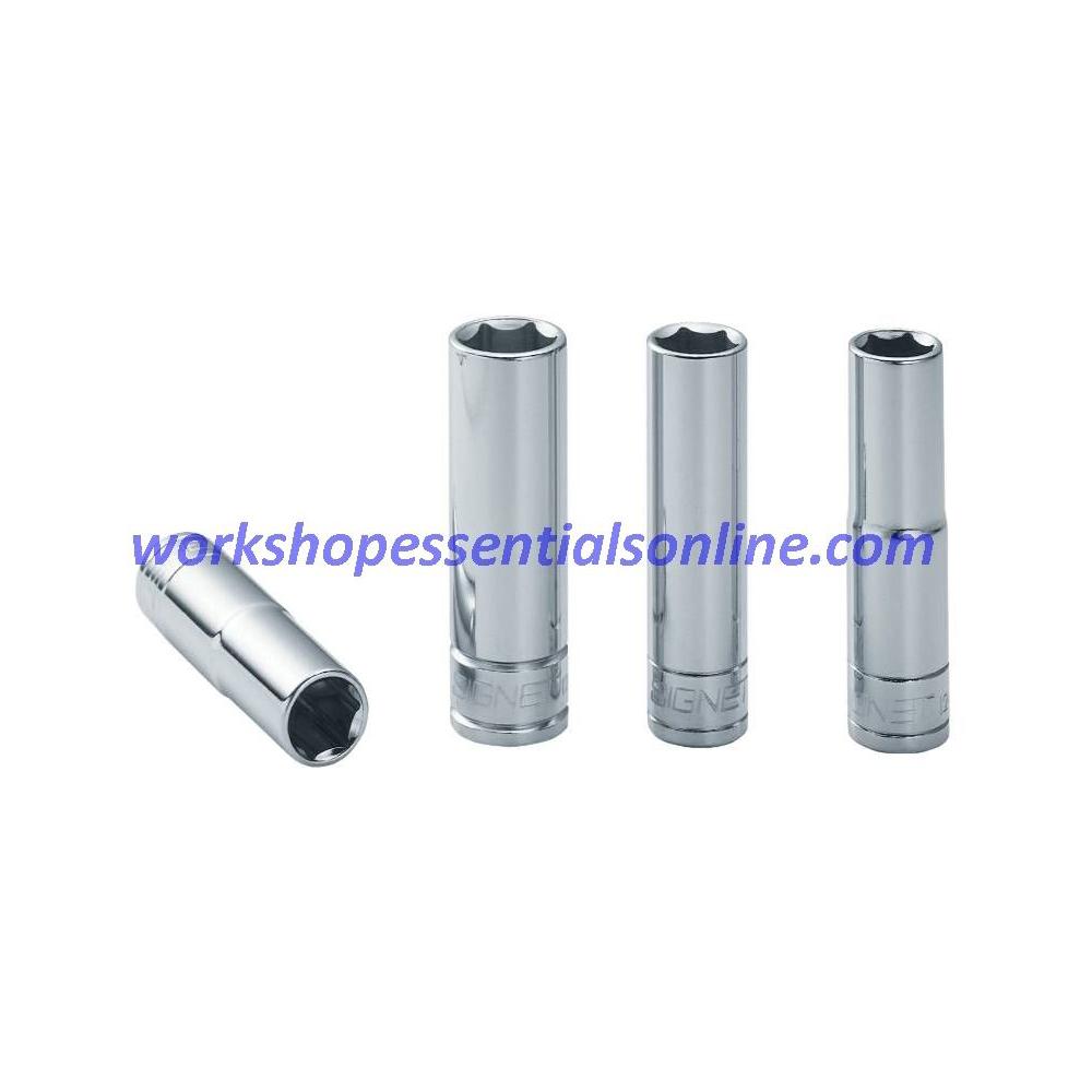 "16mm 3/8"" Drive Deep 6 Point Socket 65mm Long Signet S12416"