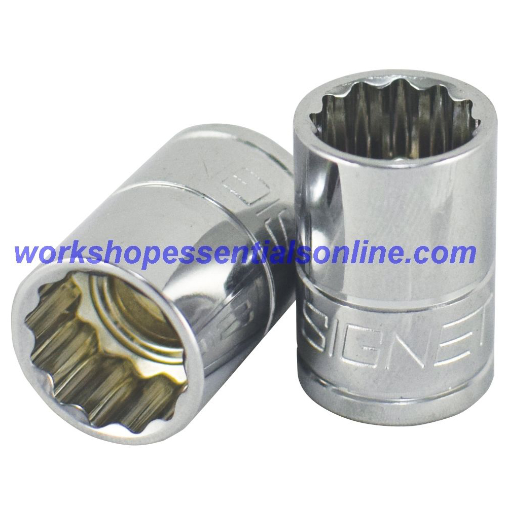 "17mm Socket 3/8"" Drive Standard Length 12 Point Signet S12372"