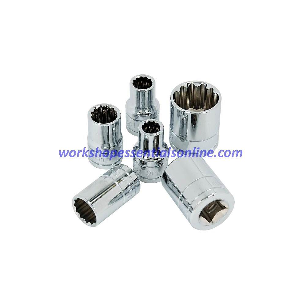 "18mm Socket 3/8"" Drive Standard Length 12 Point Signet S12373"