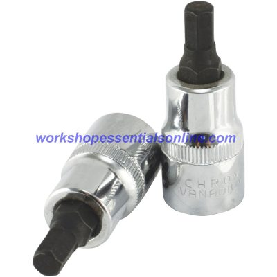 "19mm Hex Key Allen Socket 1/2"" Drive 55mm Overall Lenth Trident"