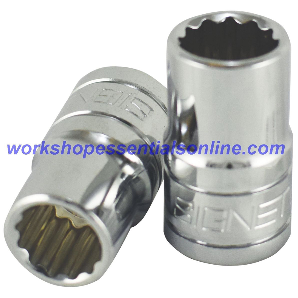"19mm Socket 1/2"" Drive Standard Length 12 Point Signet S13374"