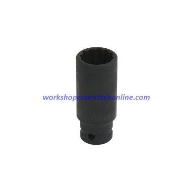 "30mm Deep 1/2"" Dr Impact Hub Nut Socket 12pt Audi-BMW-Cit-Fiat-Ford-GM-Merc-VAG"