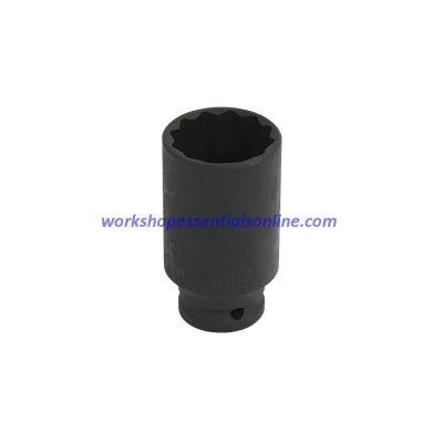 "33mm Deep 1/2"" Drive Impact Thin Walled Hub Nut Socket 12 Point"