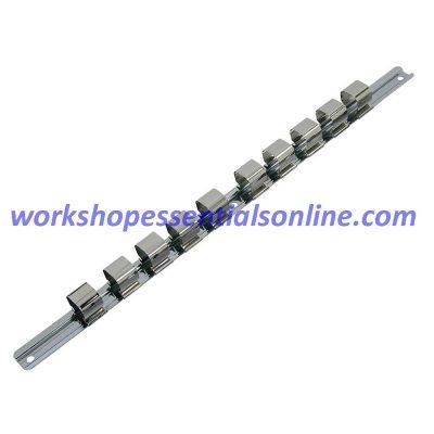 3/4 Drive Socket Rail & 8 Clips Trident T144000