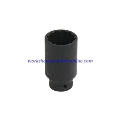 "34mm Deep 1/2"" Drive Impact Thin Walled Hub Nut Socket 12 Point"