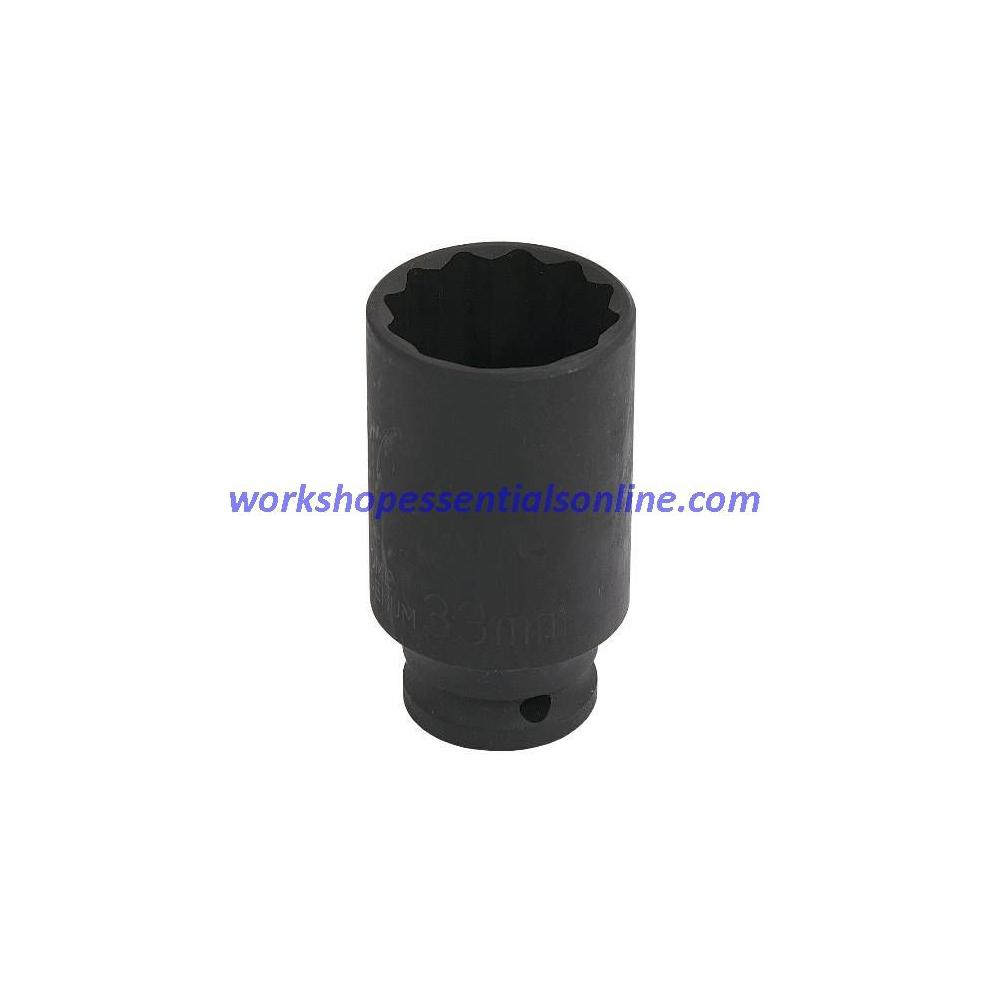 "36mm Deep 1/2"" Dr Impact Thin Walled Hub Nut Socket 12 Pt Alfa-Cit/Pug-Fiat-Ford"