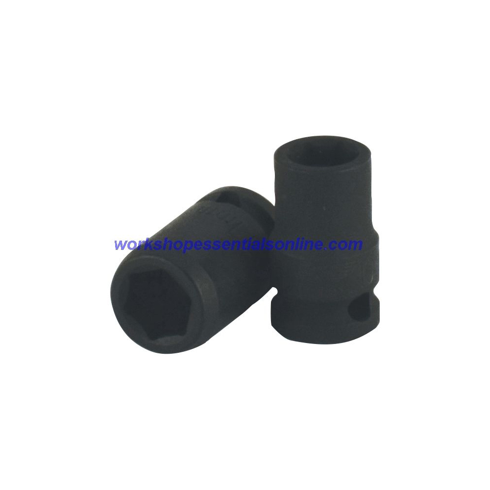 "3/8"" Drive 14mm Standard Impact Socket 6 Point 30mm Deep Trident T920014"