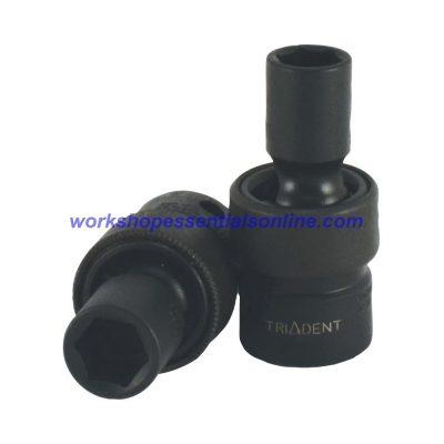 "3/8"" Drive 17mm Impact Socket Universal Joint/UJ/Swivel 6 Point Trident T922717"