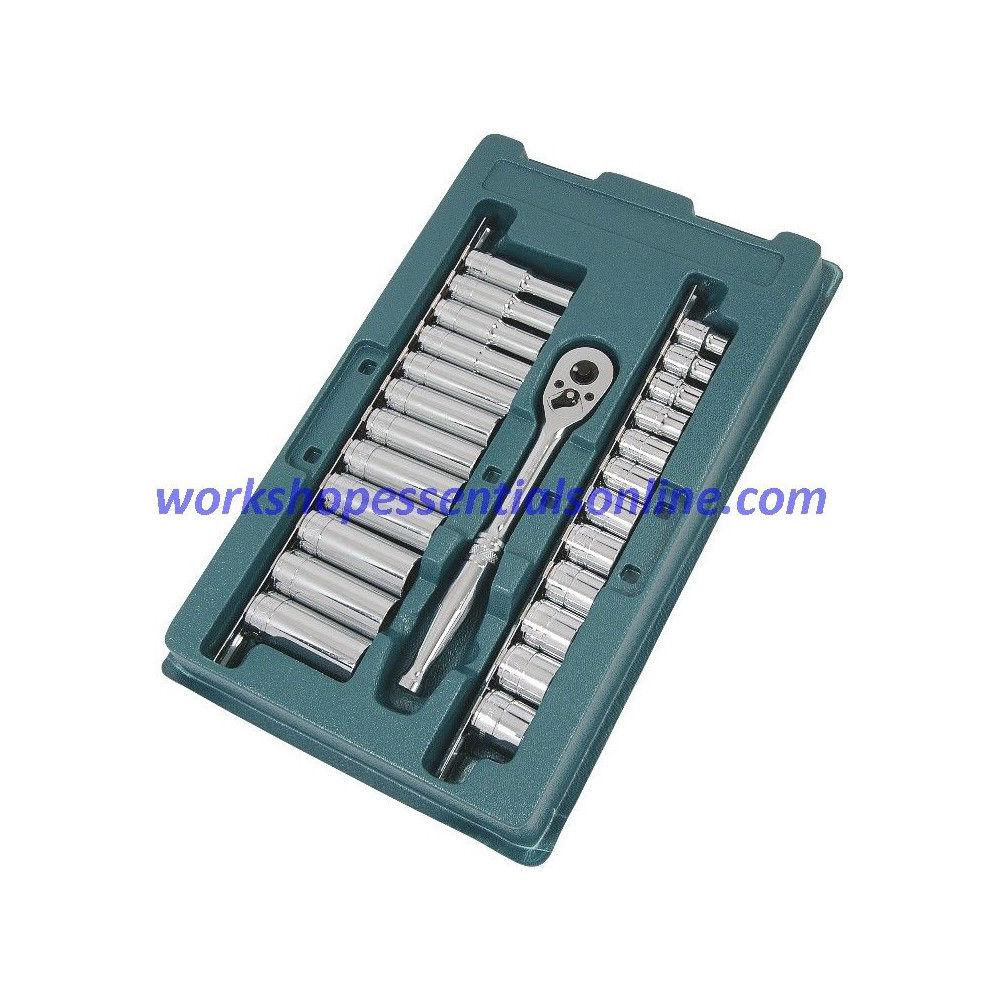 "3/8"" Drive Metric Sockets 8-19 Standard+Deep Signet S12888 25pc In Plastic Tray"