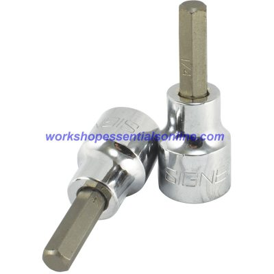 "3/8"" Imperial Hex Key Socket 3/8"" Drive 50mm Long Signet S22849"