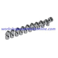 "3/8""drive Socket Set 10-19mm Universal Joint 10 Piece Trident T121800 Free P&P"