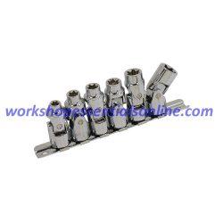 "3/8""drive Socket Set E-Torx Universal Joint 6 Piece Trident T122300 Free P&P"