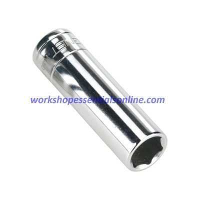 "4mm 1/4"" Drive Deep Metric 6 Point Socket Signet S11404 50mm Long"