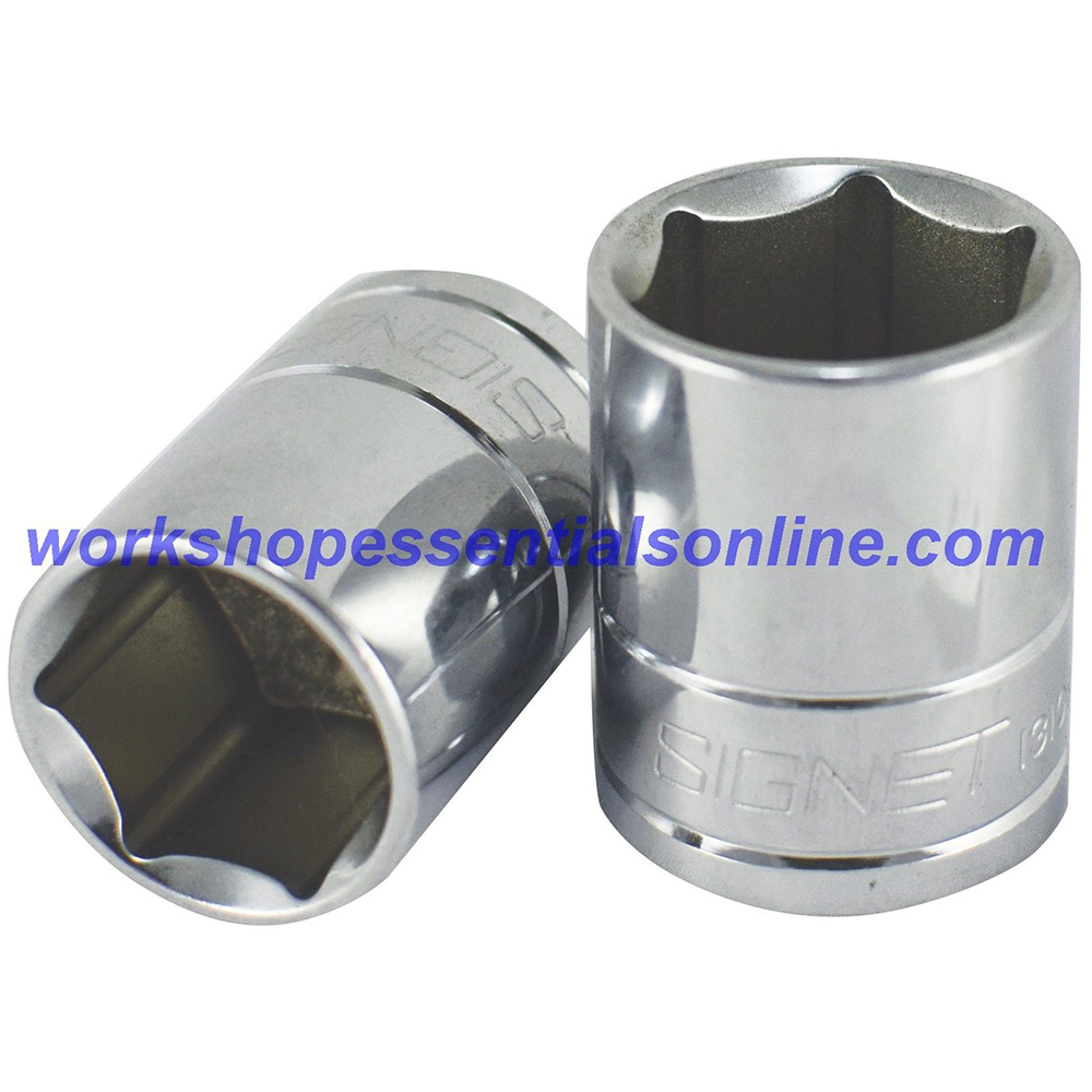 """7/8"""" Imperial 1/2"""" Drive Standard 6 Point Socket Signet S13109"""