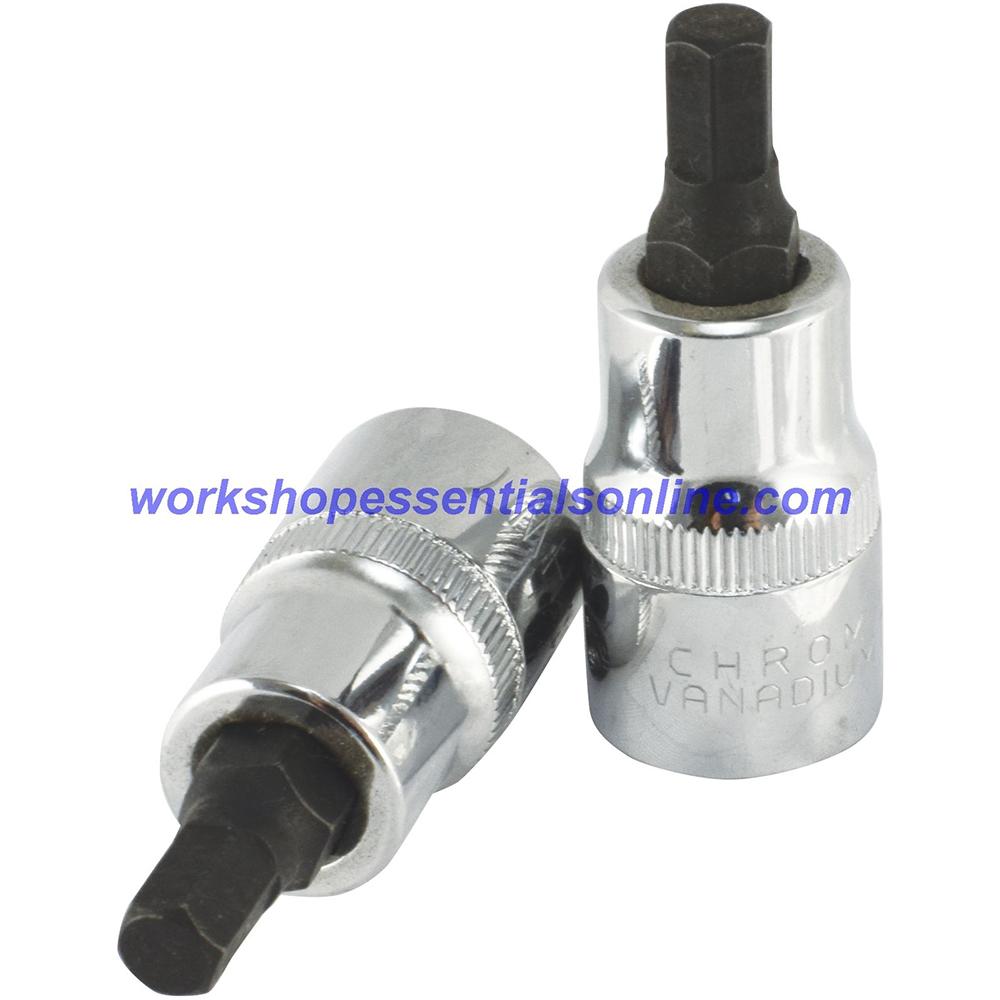 "7mm Hex Key Allen Socket 1/2"" Drive 55mm Overall Length Trident"