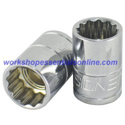 "8mm Socket 3/8"" Drive Standard Length 12 Point Signet S12363"