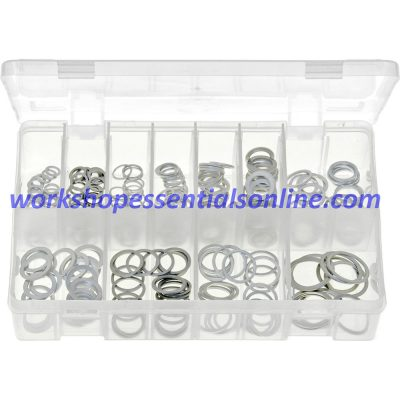 Aluminium Washers Metric Assorted See Listing 260 Pieces Boxed AB149
