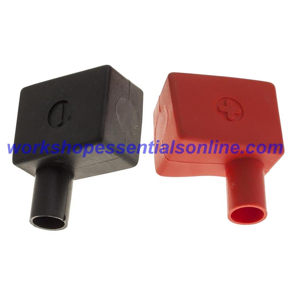 Battery Terminal Covers Pair Positive & Negative Black (LH) Red (RH) BTC1+2