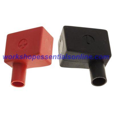 Battery Terminal Covers Pair Positive & Negative Black (RH) Red (LH) BTC3+4