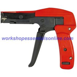Cable Tie Tensioner Gun & Flush Cutter All Steel Heavy Duty Professional Tool