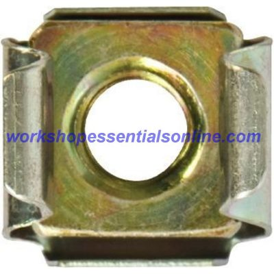 Cage Nut Metric M6 Thin Panel, Zinc Plated Steel Captive Nut, Sheet Metal Fixing
