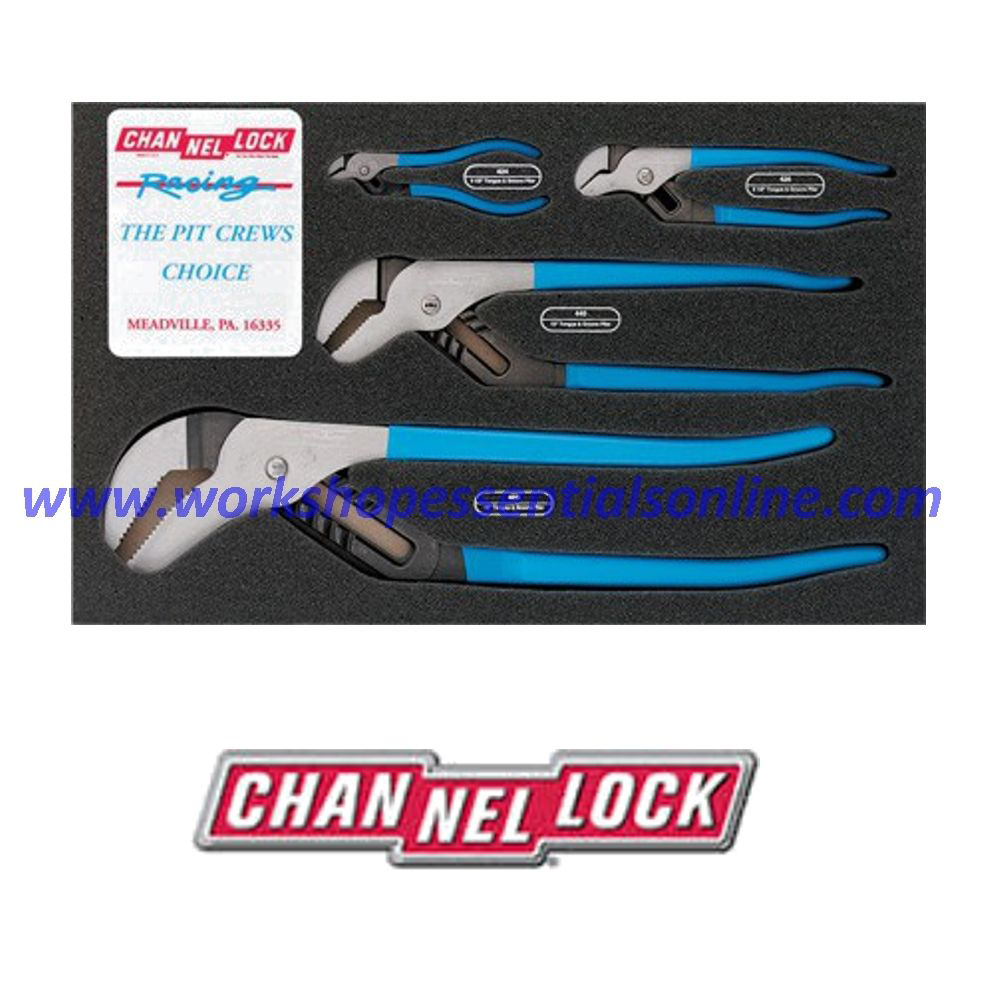 Channellock USA 4 Piece Tongue and Groove Plier Set Pit Crew/Pro's Choice CHLPC1