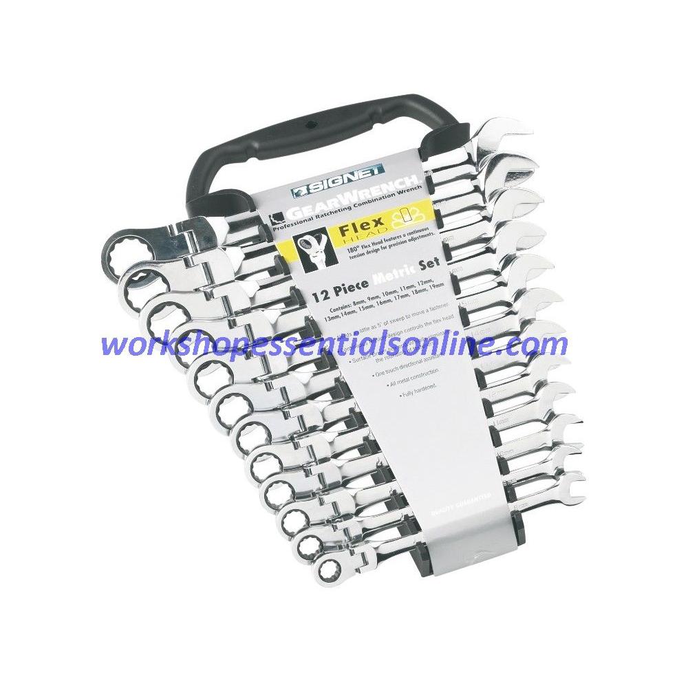 Combination Ratchet Spanner Set 12 Piece 8-19mm Signet S34747