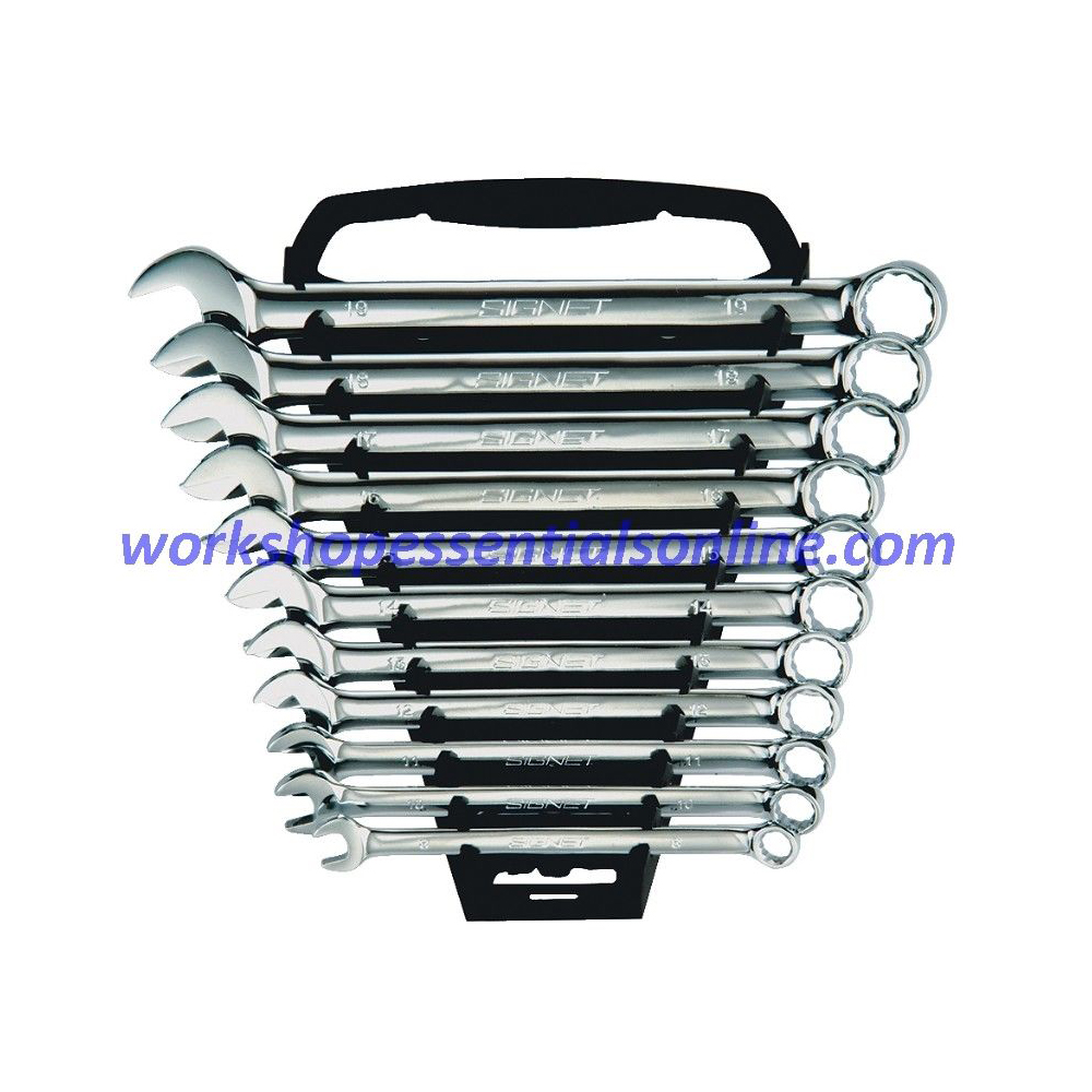 Combination Spanner Set 8-19mm Signet 11 Piece S30713 with Plastic Rack